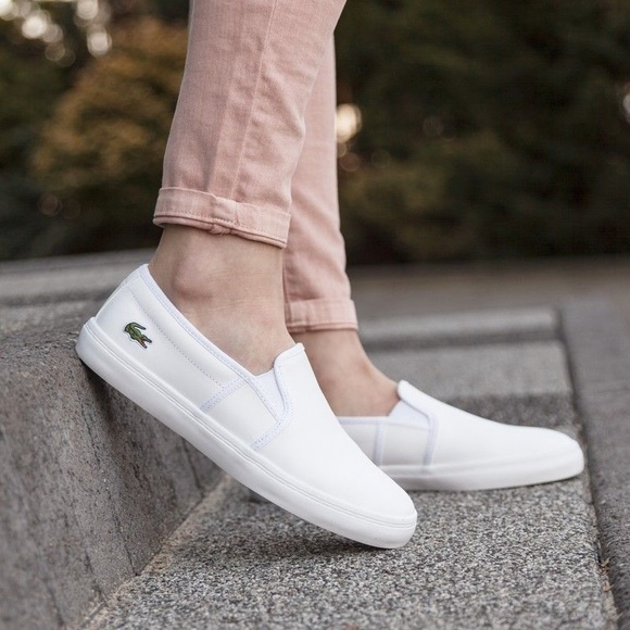 975bd8db8 LACOSTE LOGO CANVAS FLATS LOAFERS CANVAS SNEAKERS